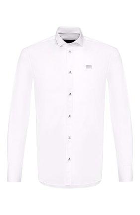 Мужская хлопковая рубашка PHILIPP PLEIN белого цвета, арт. S20C MRP1187 PTE003N | Фото 1