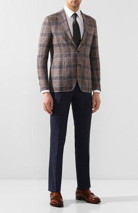 Мужской шерстяные брюки BERWICH темно-синего цвета, арт. SC/1 ALC/ZG1204 | Фото 2