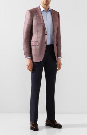 Мужской шерстяные брюки BERWICH темно-синего цвета, арт. SC/1 ALC/MZ1506 | Фото 2