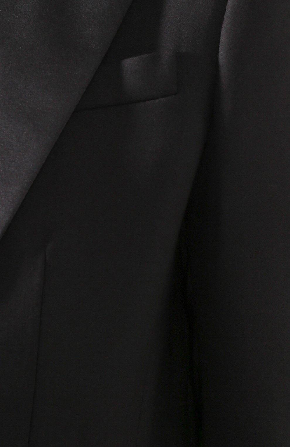 Женский жакет из смеси шерсти и шелка ALEXANDER MCQUEEN черного цвета, арт. 612810/QJAAA | Фото 5