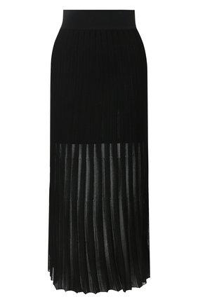 Женская юбка из вискозы BALMAIN черного цвета, арт. TF04476/K078 | Фото 1
