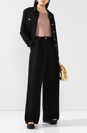 Женские джинсы DRIES VAN NOTEN черного цвета, арт. 201-10934-9395 | Фото 2