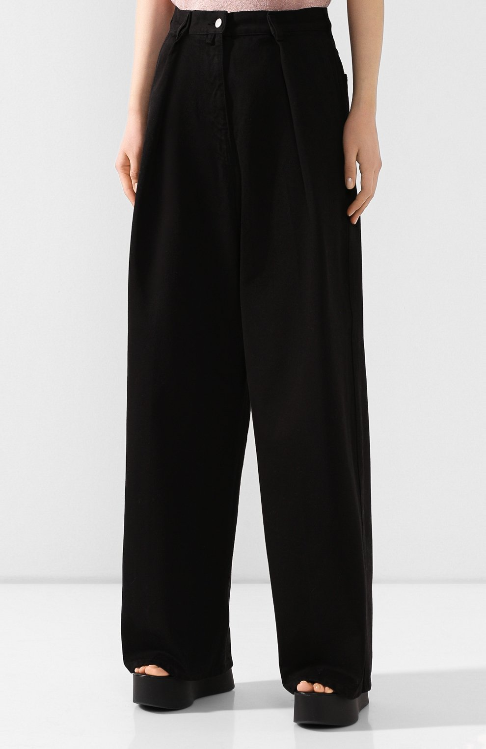 Женские джинсы DRIES VAN NOTEN черного цвета, арт. 201-10934-9395 | Фото 3