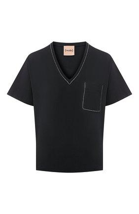 Женская хлопковая футболка NUDE черного цвета, арт. 1103785/T-SHIRT | Фото 1