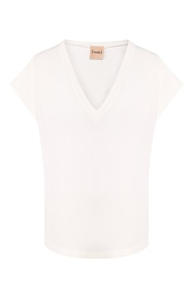 Женская хлопковая футболка NUDE белого цвета, арт. 1103798/T-SHIRT | Фото 1