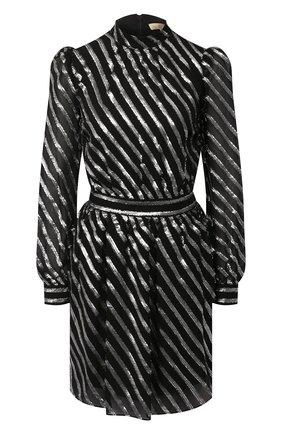 Женское шелковое платье MICHAEL MICHAEL KORS черного цвета, арт. MH98ZE1DFT | Фото 1
