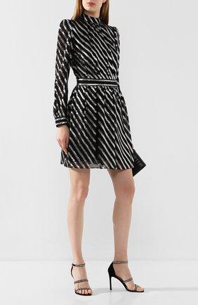 Женское шелковое платье MICHAEL MICHAEL KORS черного цвета, арт. MH98ZE1DFT | Фото 2