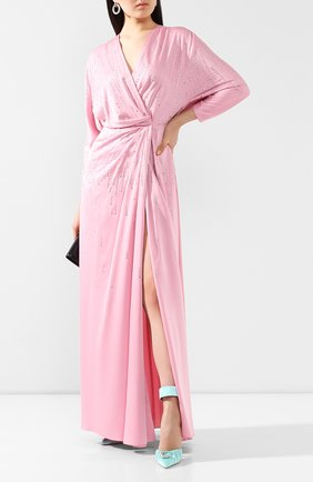 Женское платье-макси JENNY PACKHAM розового цвета, арт. JJD137L | Фото 2