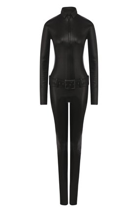 Женский кожаный комбинезон JITROIS черного цвета, арт. C0MBINAIS0N KILL APS ML | Фото 1
