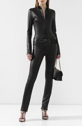 Женский кожаный комбинезон JITROIS черного цвета, арт. C0MBINAIS0N KILL APS ML | Фото 2