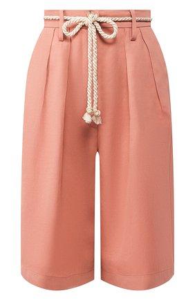 Женские шорты из смеси вискозы и льна FORTE_FORTE розового цвета, арт. 7211 | Фото 1