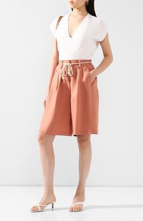 Женские шорты из смеси вискозы и льна FORTE_FORTE розового цвета, арт. 7211 | Фото 2