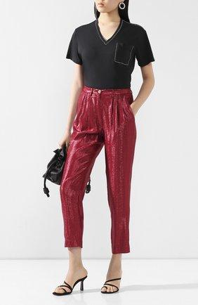 Женские брюки FORTE_FORTE бордового цвета, арт. 7266 | Фото 2