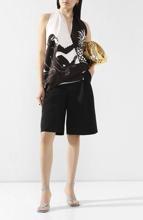 Женская шелковый топ BOTTEGA VENETA черно-белого цвета, арт. 623699/VKSX0 | Фото 2