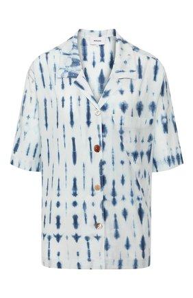 Женская хлопковая рубашка NANUSHKA голубого цвета, арт. TAI0_BI0 INDIG0_C0TT0N SHIRTING   Фото 1