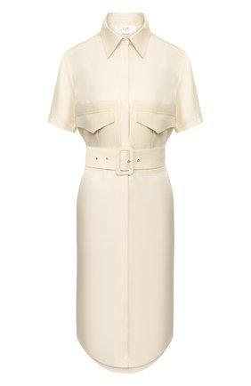 Женское шелковое платье VICTORIA, VICTORIA BECKHAM кремвого цвета, арт. 2220WDR001020A   Фото 1