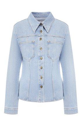 Женская джинсовая куртка NANUSHKA голубого цвета, арт. B0DHI_LIGHT BLUE_STRETCH DENIM   Фото 1