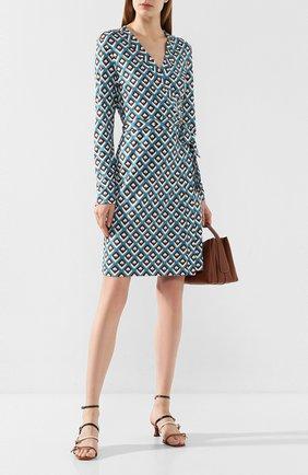 Женское шелковое платье DIANE VON FURSTENBERG бирюзового цвета, арт. 14069DVF | Фото 2