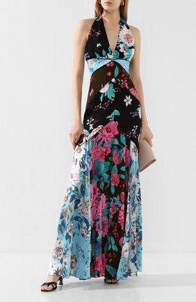 Женское платье-макси DIANE VON FURSTENBERG разноцветного цвета, арт. 14736DVF | Фото 2