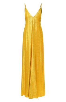 Женское платье из вискозы FORTE_FORTE золотого цвета, арт. 7268 | Фото 1
