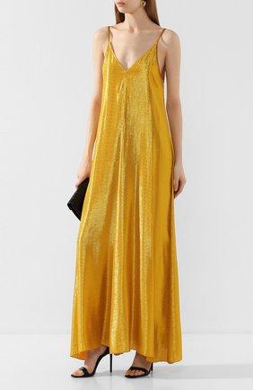 Женское платье из вискозы FORTE_FORTE золотого цвета, арт. 7268 | Фото 2