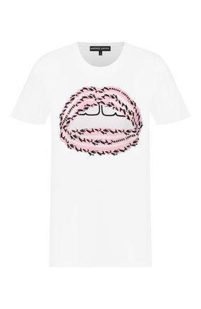 Женская хлопковая футболка MARKUS LUPFER белого цвета, арт. TEE360 | Фото 1