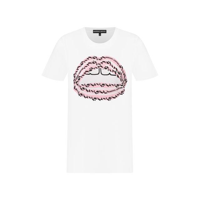 Хлопковая футболка Markus Lupfer