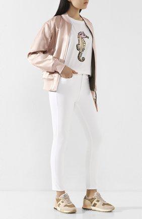 Женская хлопковая футболка MARKUS LUPFER белого цвета, арт. TEE400 | Фото 2