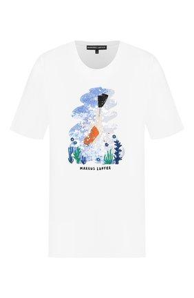 Женская хлопковая футболка MARKUS LUPFER белого цвета, арт. TEE406 | Фото 1