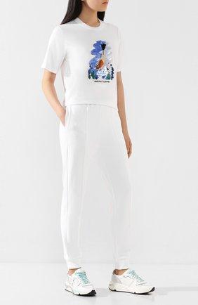 Женская хлопковая футболка MARKUS LUPFER белого цвета, арт. TEE406 | Фото 2