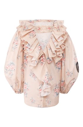 Женская хлопковая блузка ULYANA SERGEENKO бежевого цвета, арт. CMA003SS20P (0348т20) | Фото 1