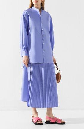 Женская рубашка HYKE голубого цвета, арт. 15105 | Фото 2