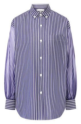Женская хлопковая рубашка HYKE синего цвета, арт. 15109 | Фото 1
