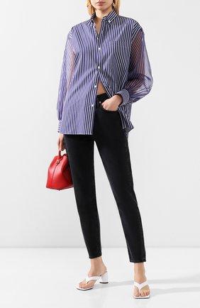 Женская хлопковая рубашка HYKE синего цвета, арт. 15109 | Фото 2