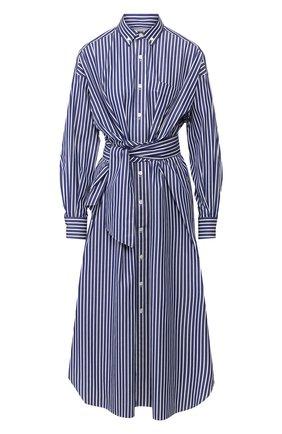 Женское хлопковое платье HYKE синего цвета, арт. 16086 | Фото 1