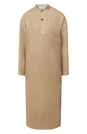 Женское льняное платье HYKE бежевого цвета, арт. 16088 | Фото 1