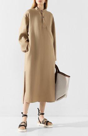 Женское льняное платье HYKE бежевого цвета, арт. 16088 | Фото 2