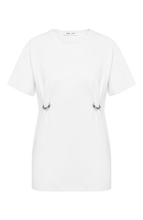 Женская хлопковая футболка ACT N1 белого цвета, арт. SSTS2001 | Фото 1