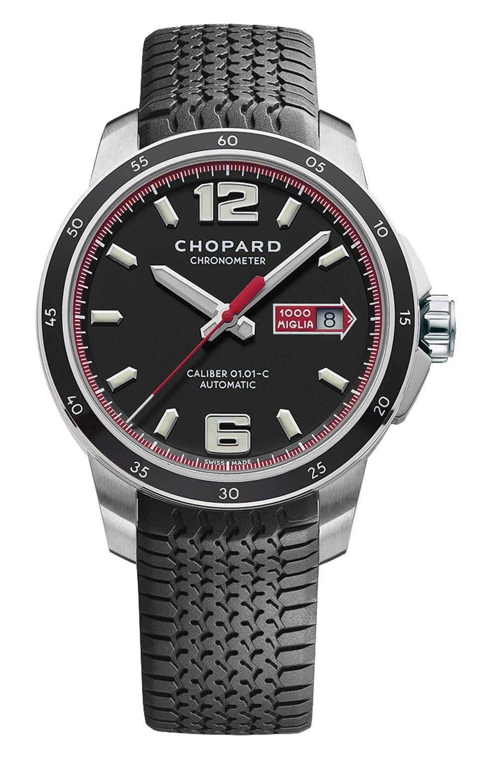 Мужские часы mille miglia gts automatic CHOPARD черного цвета, арт. 168565-3001 | Фото 1