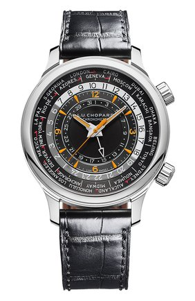 Мужские часы time traveler CHOPARD черного цвета, арт. 168574-3001 | Фото 1