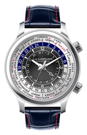 Мужские часы time traveler steel CHOPARD черного цвета, арт. 168574-3002 | Фото 1