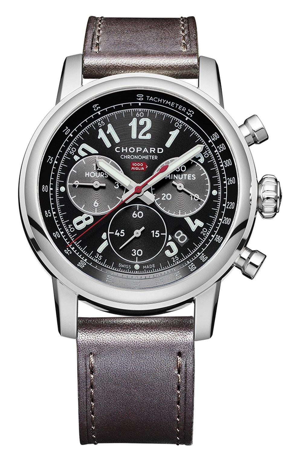 Мужские часы mille miglia chronograph CHOPARD черного цвета, арт. 168580-3001   Фото 1