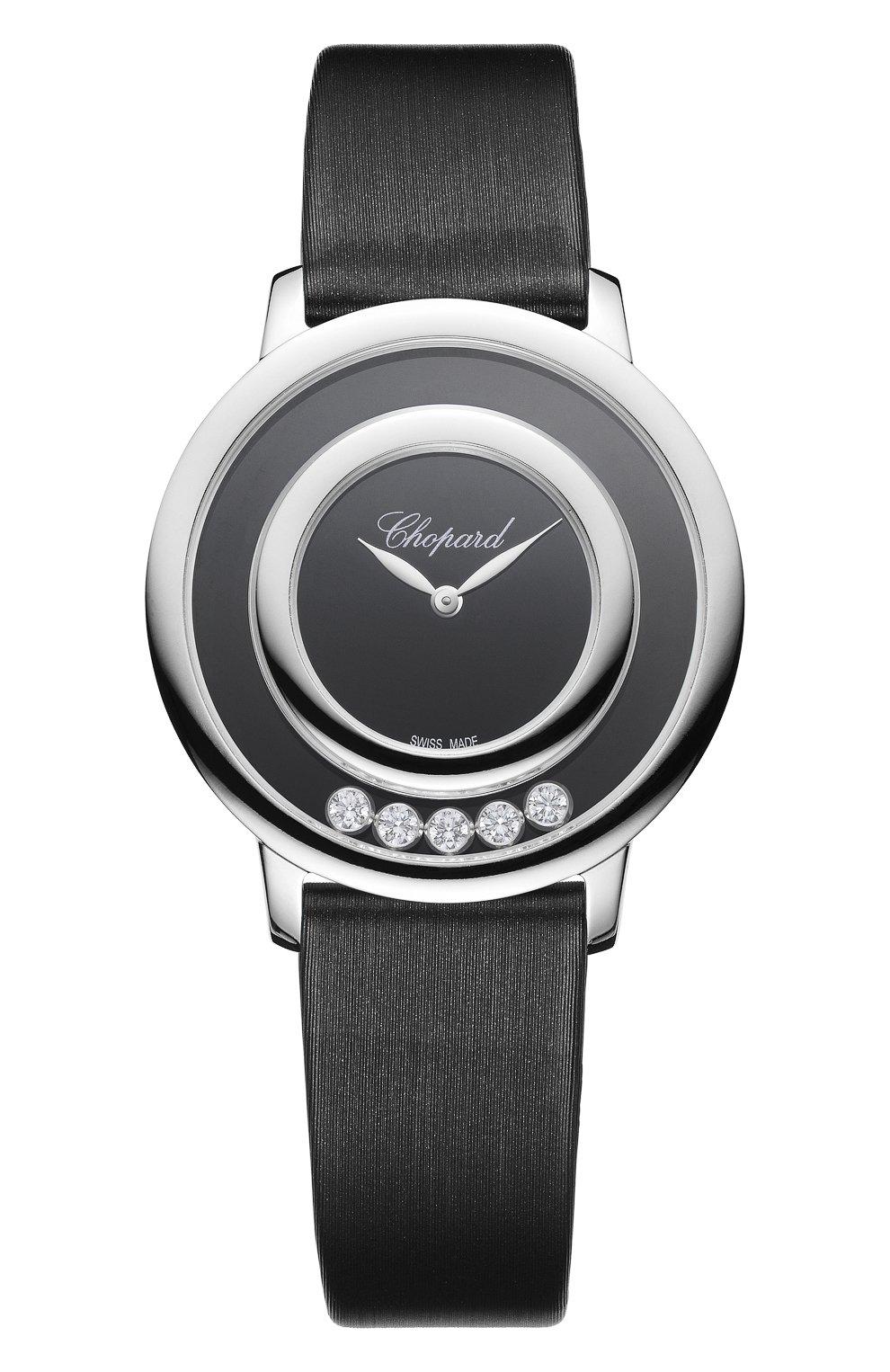 Женские часы happy diamonds icons round onyx CHOPARD черного цвета, арт. 209429-1102 | Фото 1