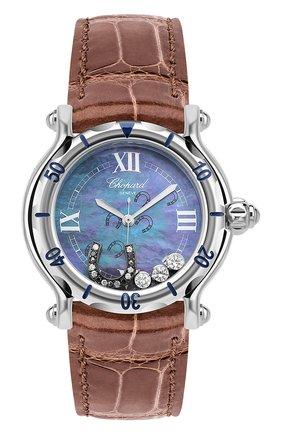 Женские часы happy horseshoe CHOPARD перламутрового цвета, арт. 278423-3001   Фото 1