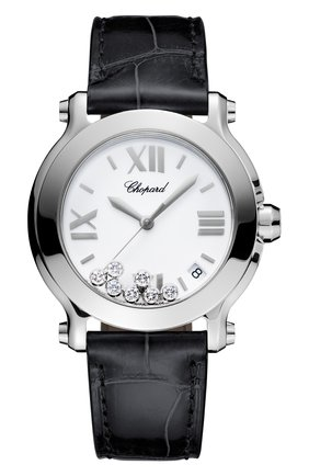 Женские часы happy sport CHOPARD белого цвета, арт. 278475-3001 | Фото 1