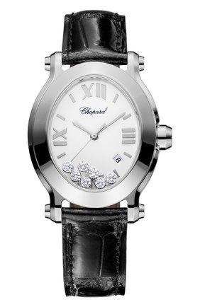 Женские часы happy sport oval CHOPARD белого цвета, арт. 278546-3001   Фото 1