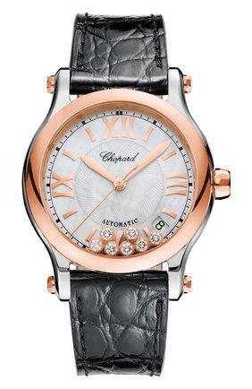 Женские часы happy sport automatic CHOPARD перламутрового цвета, арт. 278559-6008   Фото 1