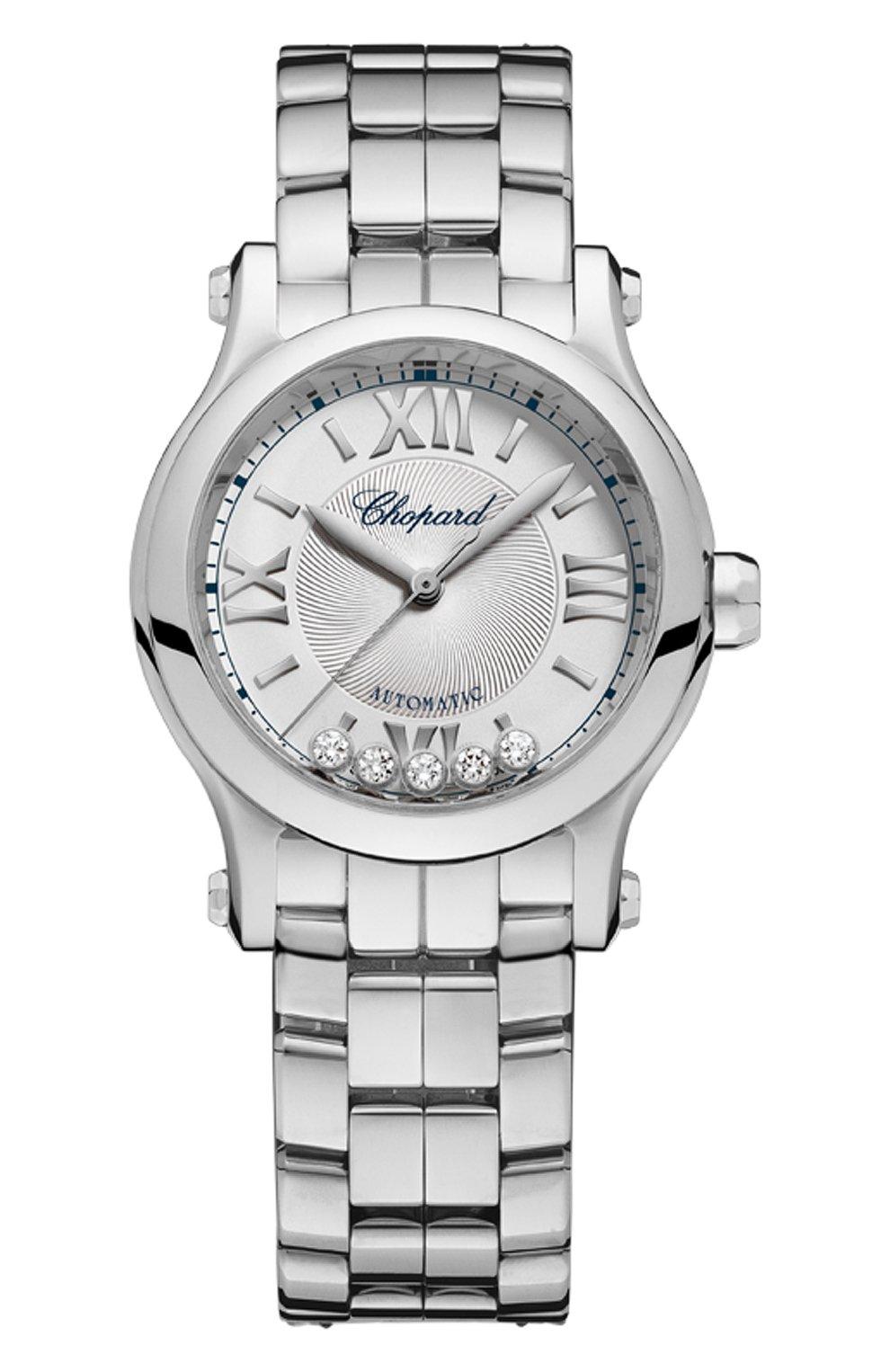Женские часы happy sport automatic CHOPARD серебряного цвета, арт. 278573-3002   Фото 1