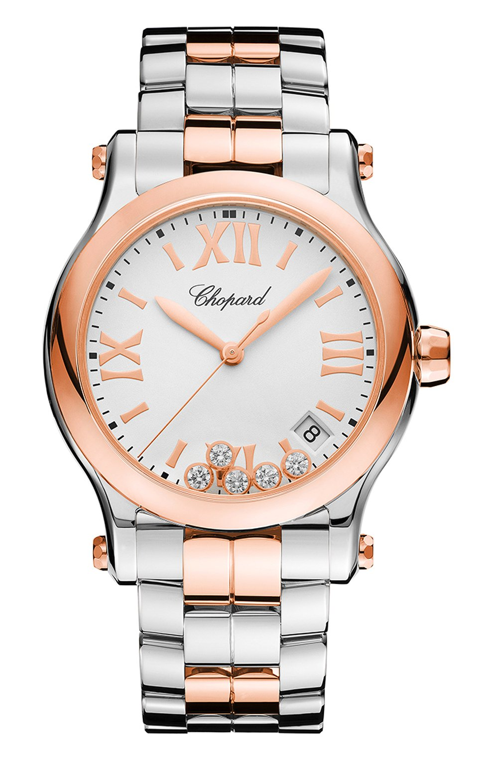 Женские часы happy sport CHOPARD белого цвета, арт. 278582-6002 | Фото 1