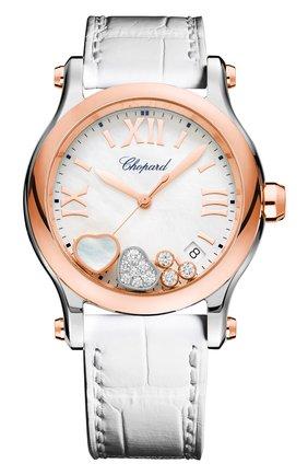 Женские часы happy sport CHOPARD перламутрового цвета, арт. 278582-6009   Фото 1